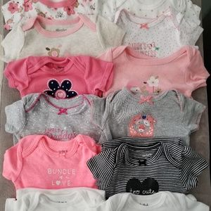 Other - 12 bundle 0-3 month baby girl onsies